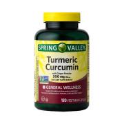 Turmeric Curcumin, 500mg, Spring Valley, 180 Cps