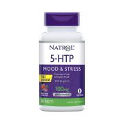 5-HTP, 100mg, Natrol, Frutas Vermelhas, 30 Cps