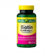Biotina, 10000mcg, Spring Valley, 120 Softgels