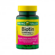 Biotina, 5000mcg, Spring Valley, 120 Softgels