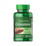 Canela (Cinnamon), 500mg, Puritan's Pride, 100 Softgels