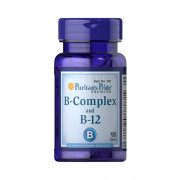 Complexo B, Vitamina B-12, Puritan's Pride, 90 Cps