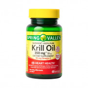 Krill Oil, 350mg (Óleo de Krill Puro da Antártica), Spring Valley, 60 Softgels