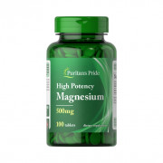 Magnésio, 500mg, Puritan's Pride, 100 Tbs