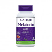 Melatonina, 3mg, Sabor Morango, Natrol, 90 Tablets