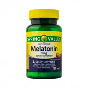 Melatonina, 3mg, Spring Valley, Sabor Morango, 120 Cps