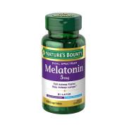 Melatonina, 5mg, Camada Dupla, Liberação Rápida e Prolongada, Nature's Bounty, 60 Cps