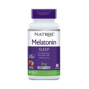 Melatonina, 5mg, Sabor Morango, Natrol, 90 Tbs