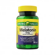 Melatonina, 5mg, Spring Valley, Sabor Morango, 120 Cps