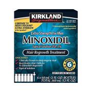 Minoxidil 5%, Kirkland, Para Homens, 6 Meses