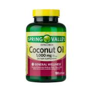 Óleo de Coco (Coconut Oil) 1000mg, Spring Valley, 100 Softgels