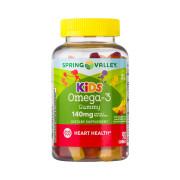 Ômega 3 Kids (para Criança) Sabor de Frutas, 140mg, Spring Valley, 90 Gomas