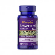 Resveratrol, 50mg, Puritan's Pride, 60 Softgels