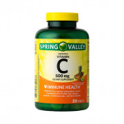 Vitamina C Mastigável, Sabor Frutas Tropicais, 500mg, Spring Valley, 200 Tbs