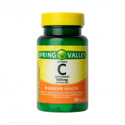 Vitamina C 500mg, Rosa Mosqueta, Spring Valley, 100 Tbs