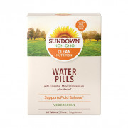 Water Pill, Potássio, (Sem Cafeína), Sundown Naturals, 60 Tbs