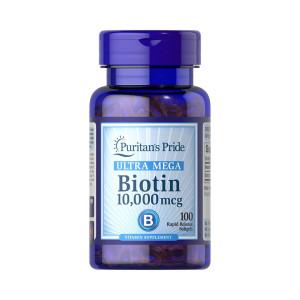 Biotina, 1000mcg, Ultra Mega, Puritan's Pride, 100 Cps