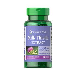 Milk Thistle, Cardo Mariano, 1000mg, Puritan's Pride, 90 Softgel