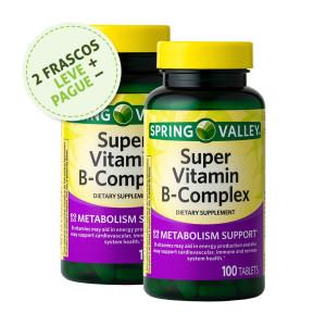 Super Complexo Vitamina B, Spring Valley, 100 Tbs (2 Un.)