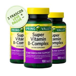 Super Complexo Vitamina B, Spring Valley, 100 Tbs (3 Un.)