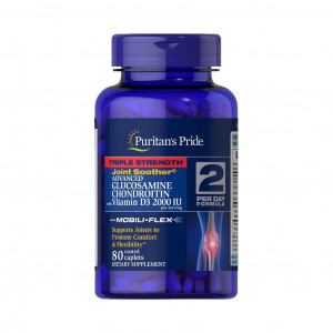 Glucosamina, Condroitina, MSM, Vitaminas D-3, Puritan's Pride, 80 Cps
