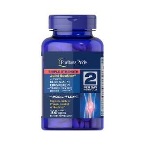 Glucosamina, Condroitina, MSM, Vitamina D-3, Puritan's Pride, 160 Tbs