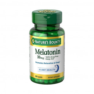 Melatonina, 10mg, Nature's Bounty, 60 Cápsulas