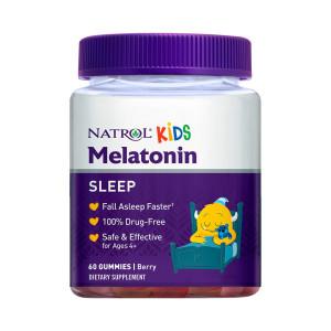 Melatonina, Kids (para Criança), Gomas Sabor Frutas Vermelhas, 1mg, Natrol, 60 Gomas