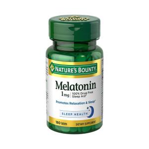 Melatonina 1mg, Nature's Bounty, 180 Tbs