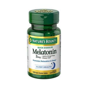 Melatonina, 3mg, Nature's Bounty, 120 Tbs