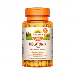 Melatonina, 5mg, Sundown Naturals, 90 Cps
