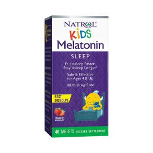 Melatonina, Kids (para Criança) Sabor Morango, 1mg, Natrol, 40 Tbs