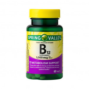 Vitamina B-12, 1000mcg, Spring Valley 60 Tbs