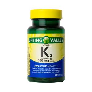 Vitamina K-2, 100mcg, Spring Valley, 60 Softgels