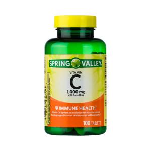 Vitamina C 1000mg, Rosa Mosqueta, Spring Valley, 100 Tbs