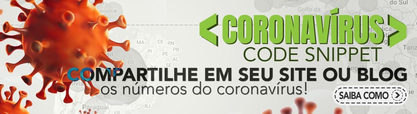 Coronavírus COVID-19 Code Snippet