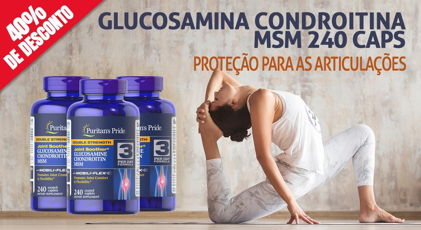 Glucosamina Condroitina MSM 240 Tbs