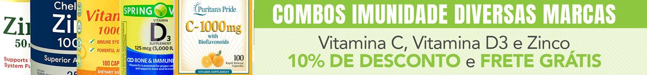 Combo Imunidade - Vitamina C + D-3 + Zinco