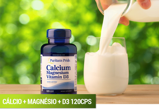 Cálcio + Magnésio + Vitamina D3 Puritan's Pride